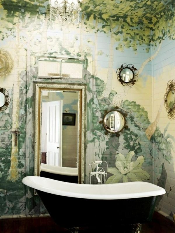Wandmalerei Ideen Badezimmer Vintage
