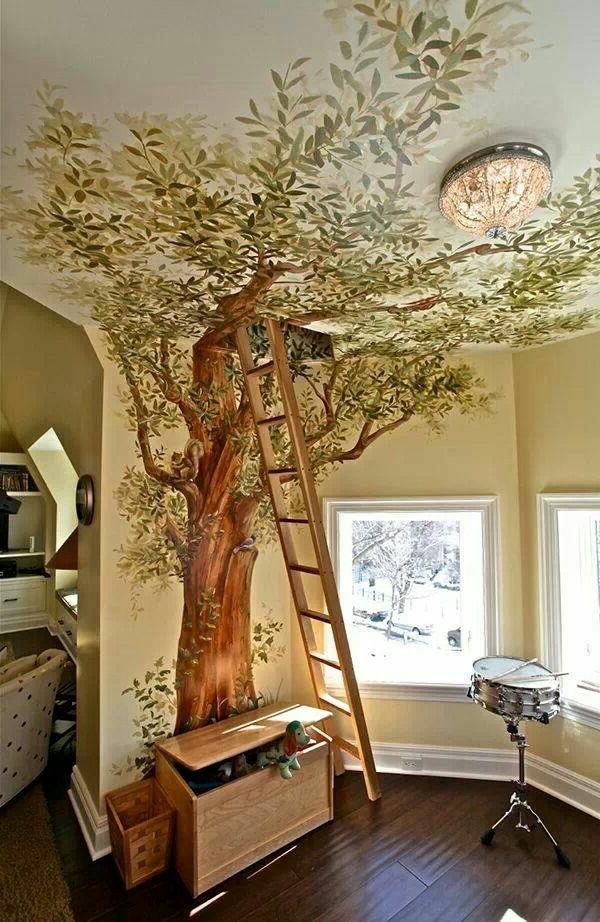 Babyzimmer Wandgestaltung Baum | Beecie, Modern Dekoo