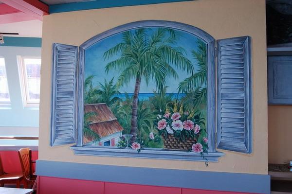 Hochwertig Wandmalerei Ideen Fenster
