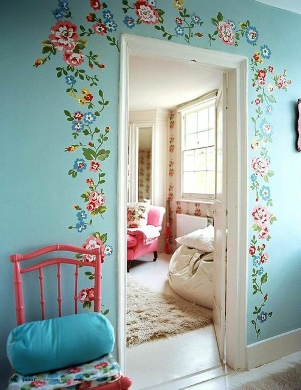 27 wandmalerei ideen f r ihre einzigartigen w nde. Black Bedroom Furniture Sets. Home Design Ideas