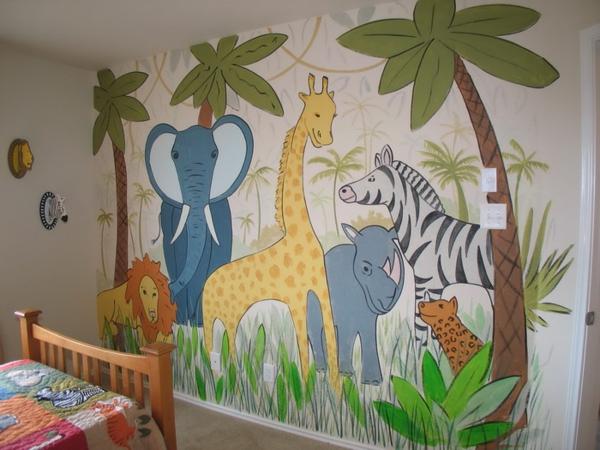 wandmalerei-im-kinderzimmer-Safari