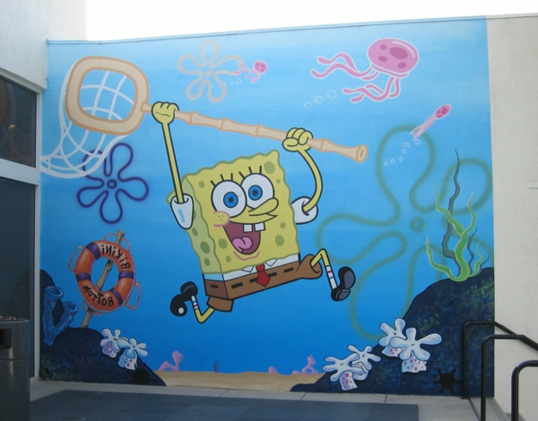 wandmalerei-im-kinderzimmer-SpongeBob