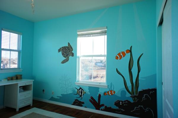Kinderzimmer als aquarium gestalten bibkunstschuur for Aquarium im kinderzimmer