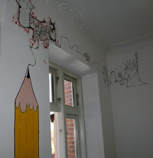 wandmalerei-im-kinderzimmer-bleistift