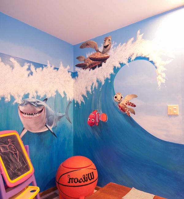 wandmalerei im kinderzimmer magische welten entdecken