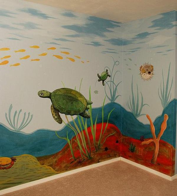 Wandmalerei Im Kinderzimmer Nautisch Meer