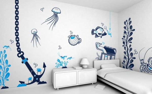 wandmalerei-im-kinderzimmer-nautisch-schwarz-weiß