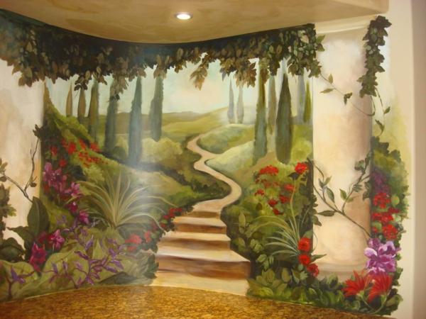 Kinderzimmer wandgestaltung wald  Wandmalerei im Kinderzimmer - magische Welten entdecken ...
