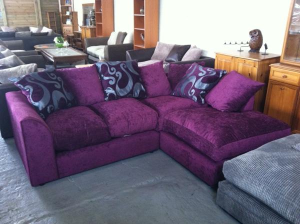 Sofakissen in lila f r eine coole zimmer ausstattung - Dekoartikel fur wohnzimmer ...