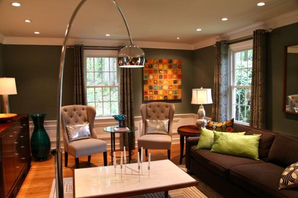wohnzimmer-mit-wunderschöner-beleuchtung-gestalten-eine interessante lampe