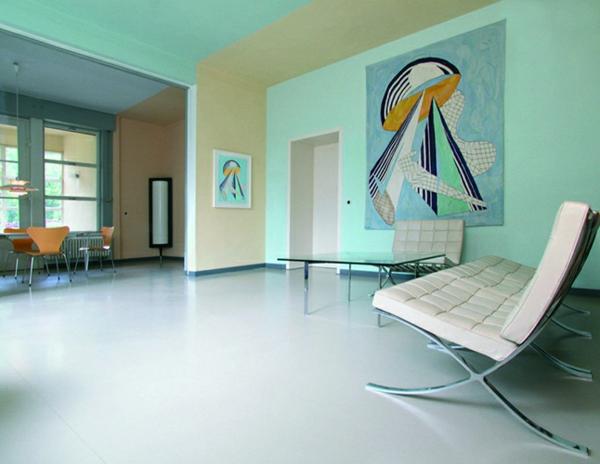 wohnzimmer-wandfarbe-türkis-gestaltungsideen-für-die-wohnung