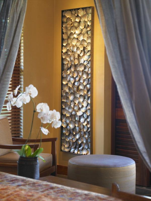 Dekosteine f r wand eine geniale idee - Duschvorhang mit orchideen ...