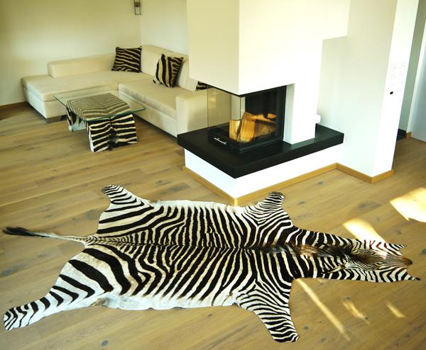 zebrafell-möbel-leder