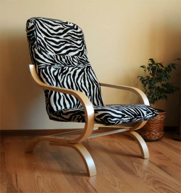 zebrafell-möbel-stuhl