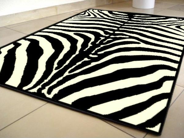 zebrafell-möbel-teppich
