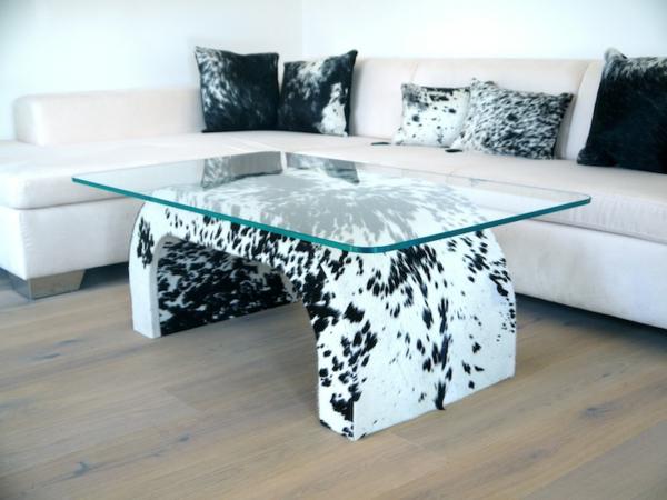 zebrafell-möbel-tisch