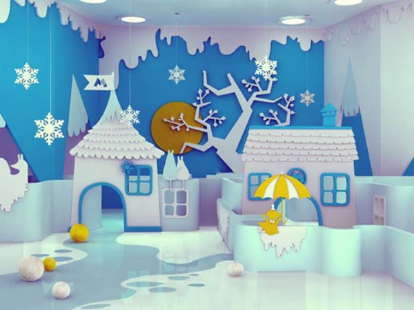 zimmergestaltung -ideen-für-spannendes-märchenhaftes-Kinderzimmer