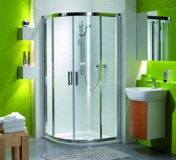 zimmergestaltung -ideen-grünes -Badezimmer