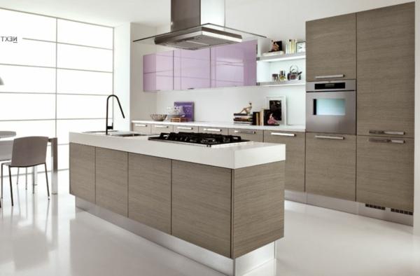 zimmergestaltung -ideen-hochweriges-Design-in-der-Mitte-der-Küche