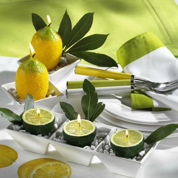 Banane und zitrone die perfekte dekoration - Dekoration kerzen ...