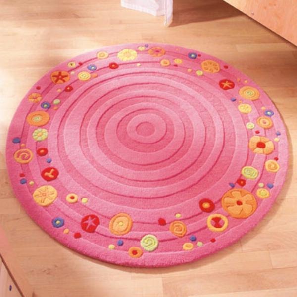 HABA-Teppich-rund-und-rosa