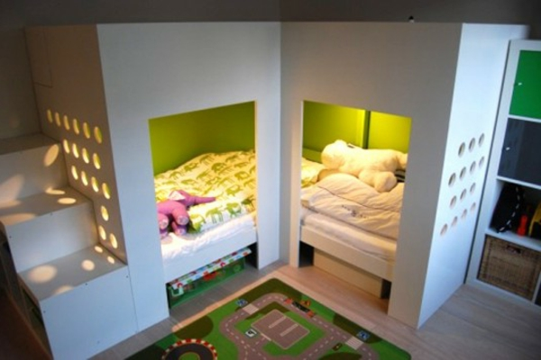 Jugend mädchenzimmer ikea bett  Ikea Kinderschrank für moderne Familie! - Archzine.net