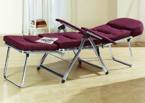 Klappbarer -Liegestuhl-zum-liegen