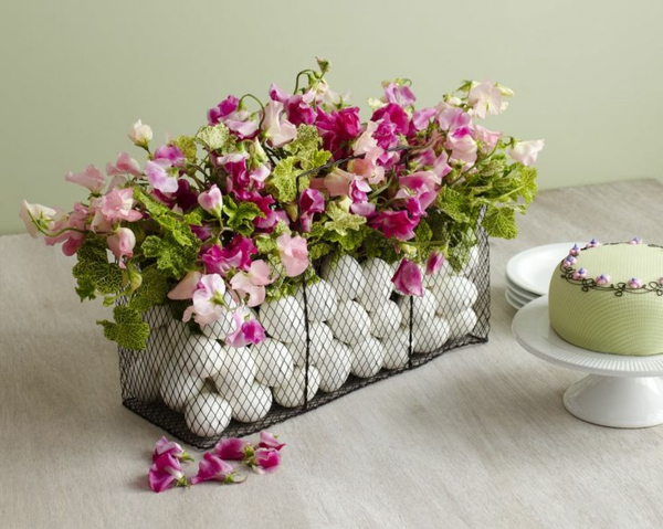 Tischdeko- eier- Blumen
