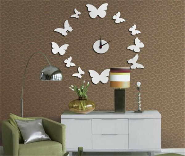 coole wohnzimmer uhren:Haben Sie Angst, dass die Wandtattoo Uhren für immer an der Wand