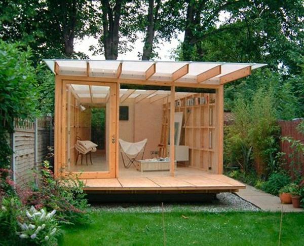 Garten Sauna Holz Wellness
