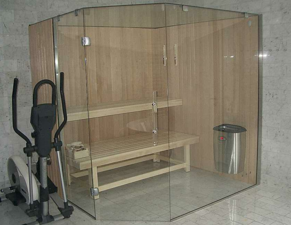 glas sauna wellness zu hause. Black Bedroom Furniture Sets. Home Design Ideas