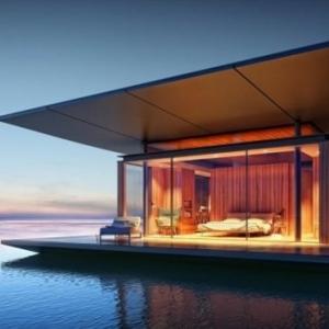 Schwimmende Ferienhäuser - coole Bilder