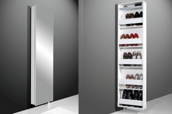 schuhschrank mit spiegelfront f r eine schicke flur. Black Bedroom Furniture Sets. Home Design Ideas