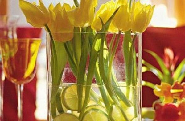 Tischdeko-Tulpen
