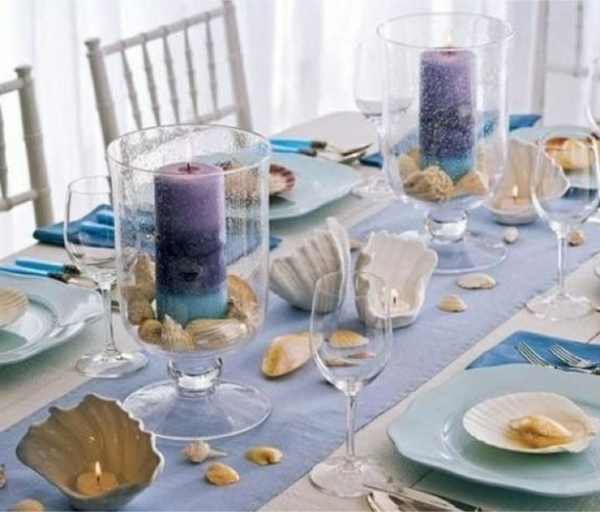 Tischdeko-Kerzen-blau