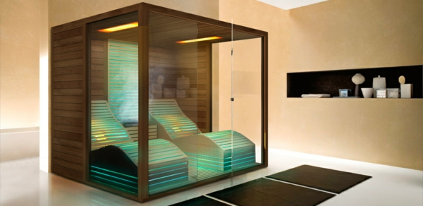 glas sauna wellness zu hause. Black Bedroom Furniture Sets. Home Design Ideas