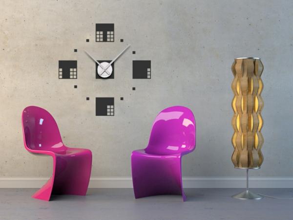 tatoo- Uhren-mit-zwei-Stühle