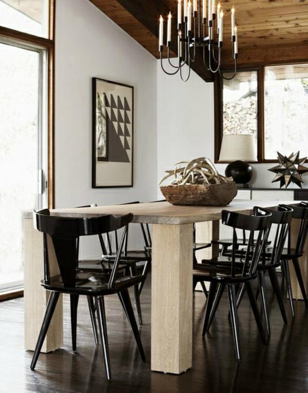 skandinavisches esszimmer - schwarze stühle