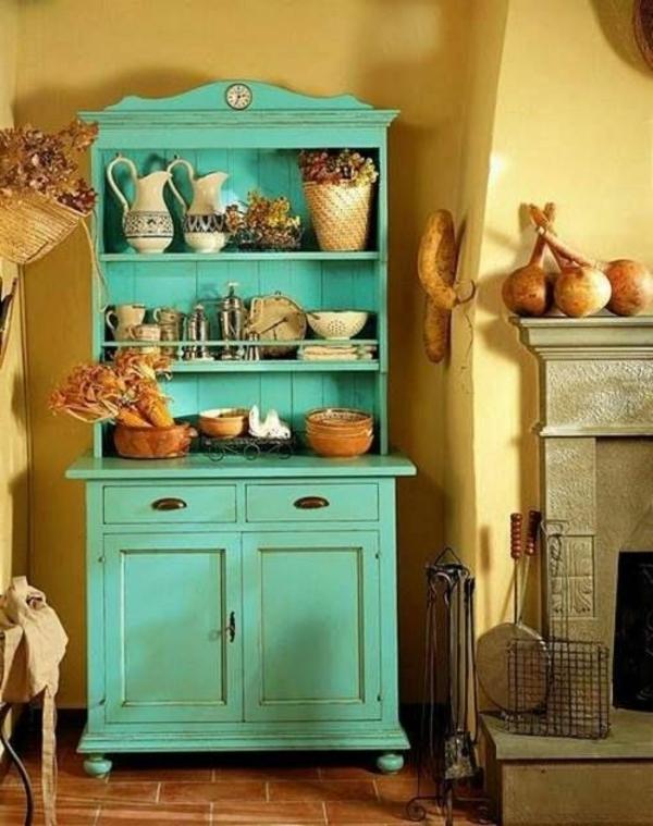 Altmodische-Möbel-Vintage-Design-grüne-Farbe-Ideen-für-die-Küche