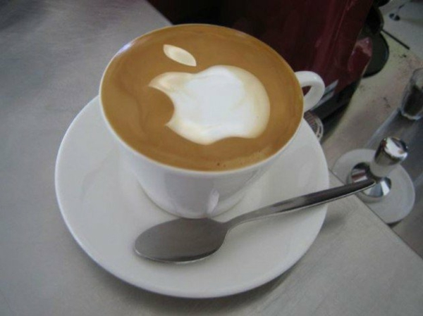 Apple-Kaffee-Dekoration-Idee