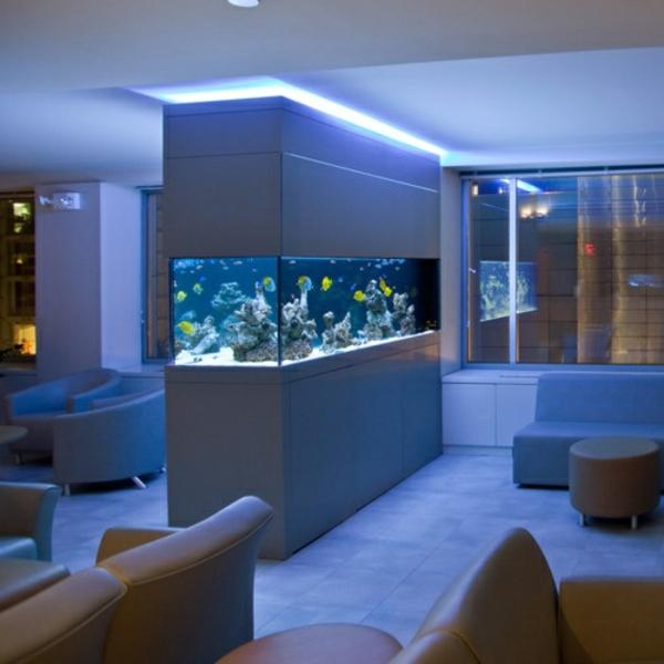 Außergewöhnliche-Dekoration-aqurium-blau-