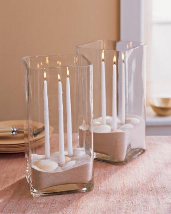 Außergewöhnliche-Dekoration-kerzen-glas