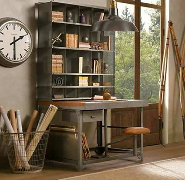 Büro-mit-Vintage-Look-Design