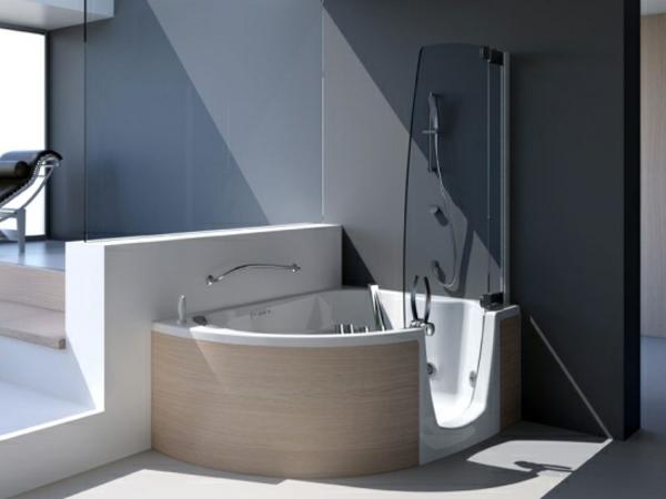 super-moderne-Badewanne-mit-Dusch-zone-Tür-Design-modern-Badausstattung