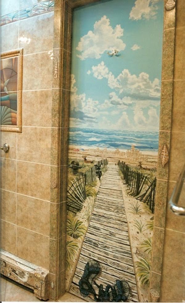 Badezimmer-coole-Wandbilder-Strand-treppe