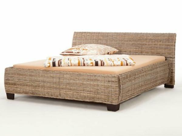 Bananenblatt-Bett-Schlafzimmerdesignidee