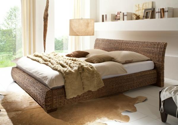 bananenblatt bett für das schlafzimmer - archzine.net - Schlafzimmer Bett