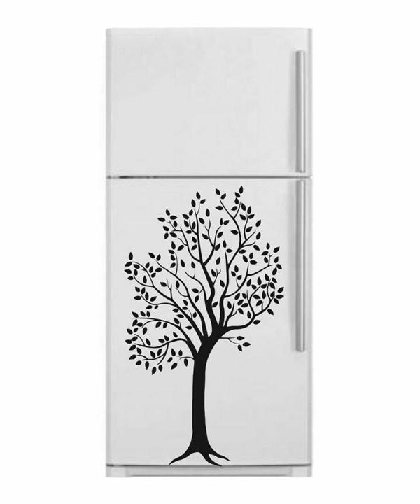 Baum-auf-dem-Kühlschrank-Designidee-für-die-Küche