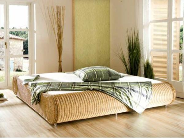 Bett-Bananenblatt-im-Schlafzimmer