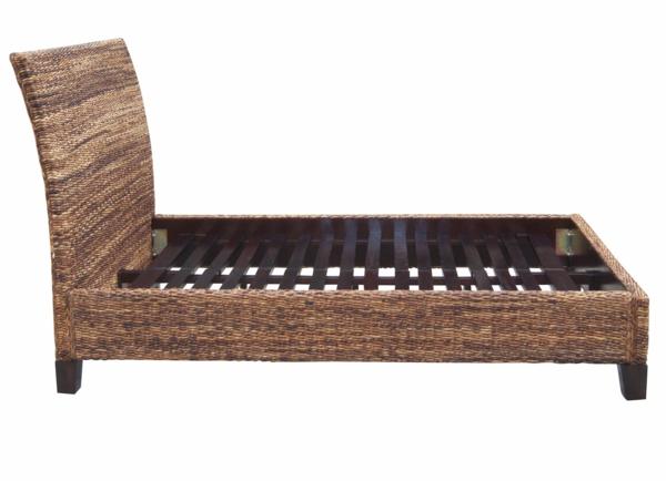 Bettkonstruktion-Bananenblatt-tropische-Betten